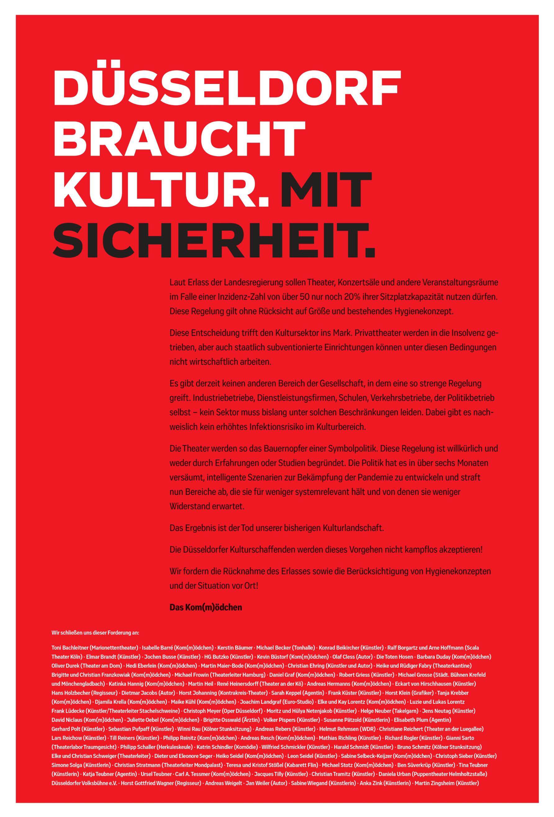 Düsseldorf braucht Kultur